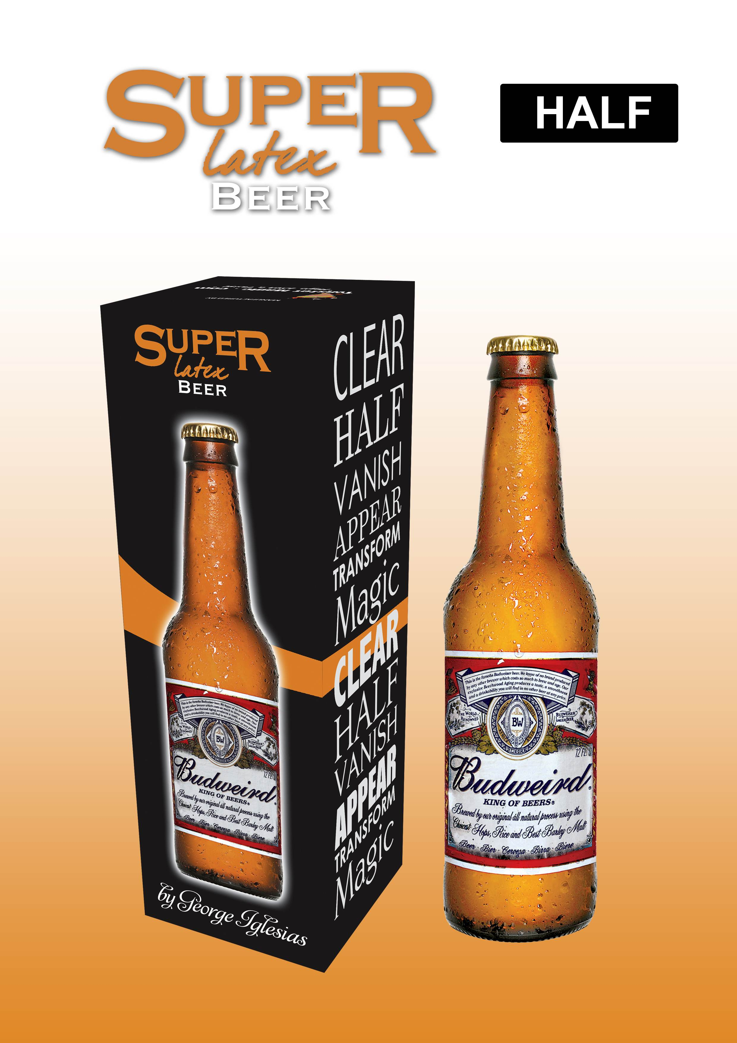 SUPER LATEX BEER (HALF) - BROWN COLOR - Click Image to Close