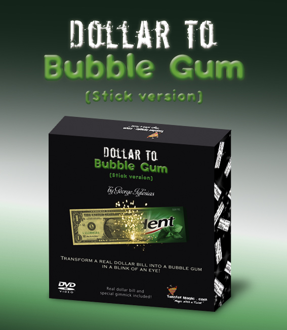 DOLLAR TO BUBBLE GUM (Stick Gum) - Click Image to Close